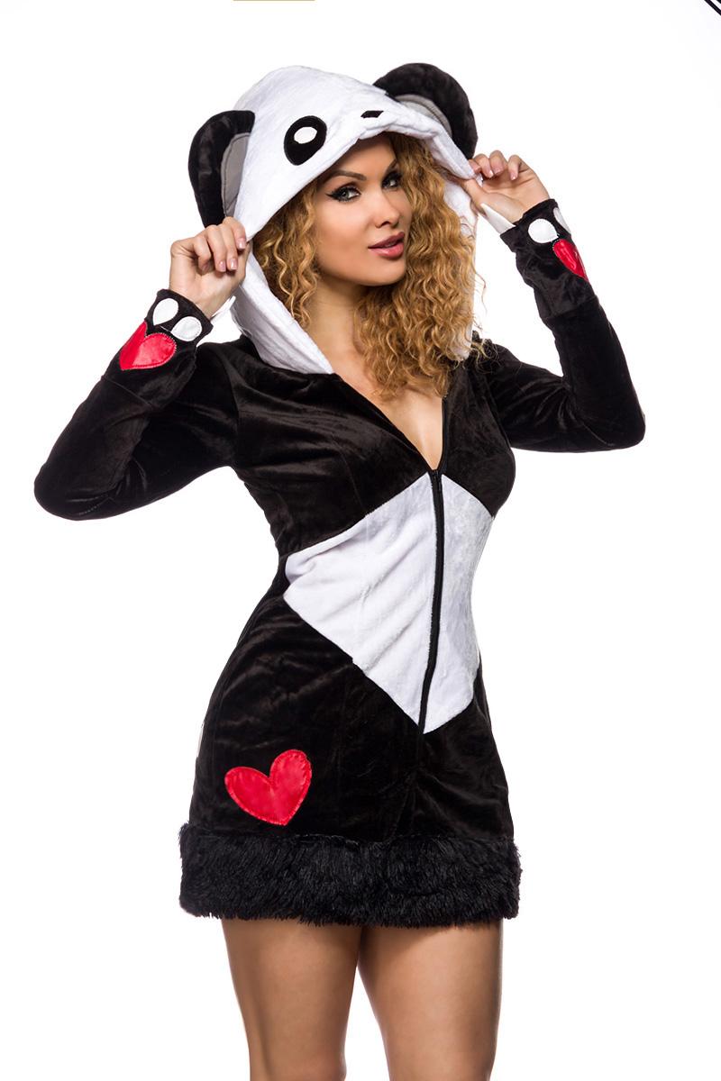sexy pandabaer kostuem panda kostuem kleid damen fasching