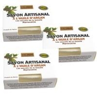 3 Stück pflegende Arganseife 90 g Seife aus Arganöl