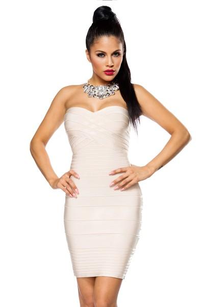 trägerloses Bandage Shape Kleid Silvester Kleid figurbetont ...