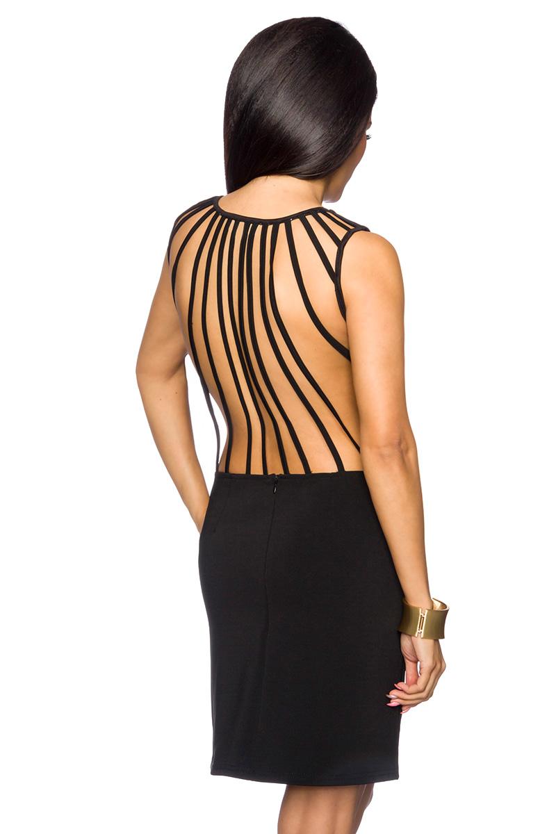 Cocktail-Kleid schönes Kleid schwarz tailliert Rundhals kurzes Kleid ...