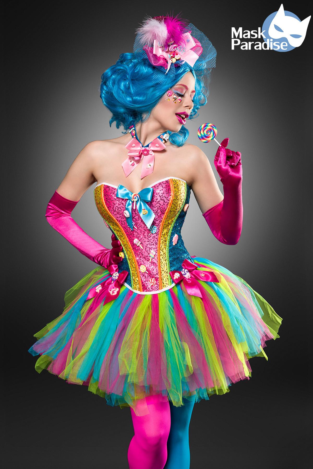CANDY GIRL Verspieltes Candy Costume Sweet Girl COLOREE costume mardi mardi mardi gras carnaval 4766ea