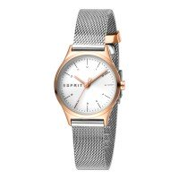 Esprit ES1L052M0095 Essential Mini White Rose Mesh Damenuhr