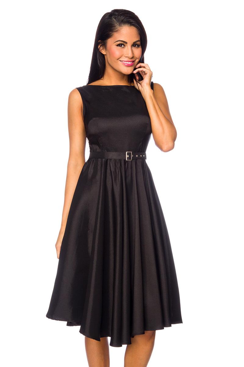 satin kleid schwarz