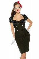 Vintage-Kleid im Pin-Up-Stil